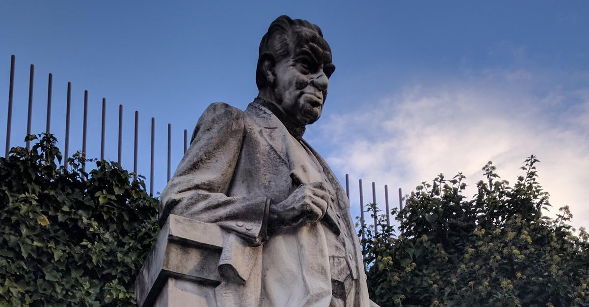 Ottokar Kernstock - Statue in Vorau